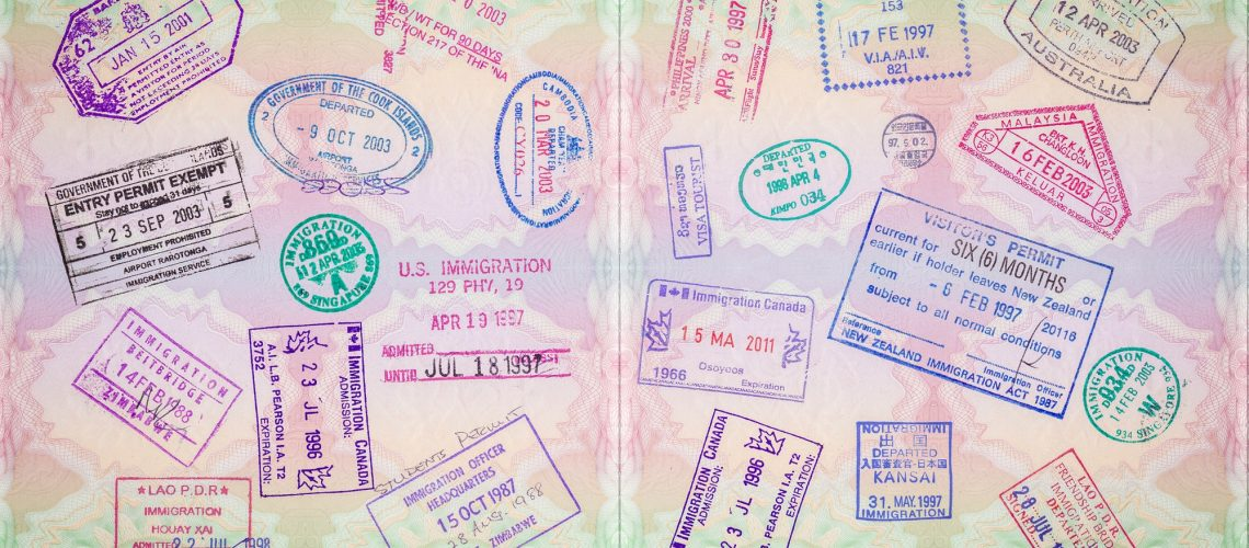 Retro Passport Stamps